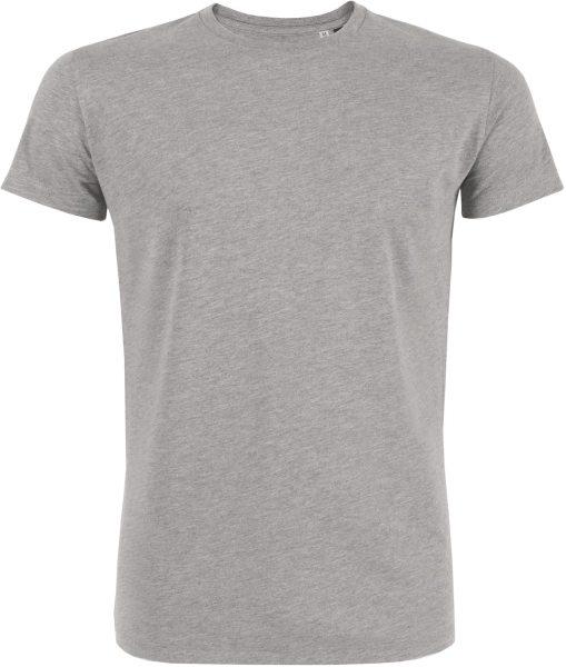 Acts - Kurzarmshirt aus Bio-Baumwolle - grau meliert