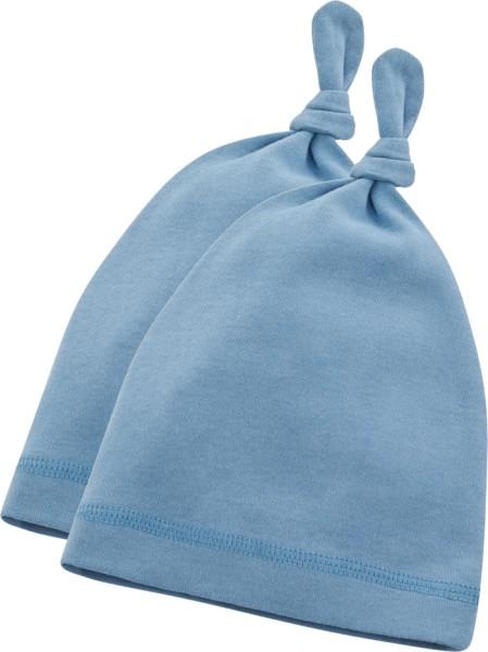 Baby Mützchen aus Bio-Baumwolle - ice blue
