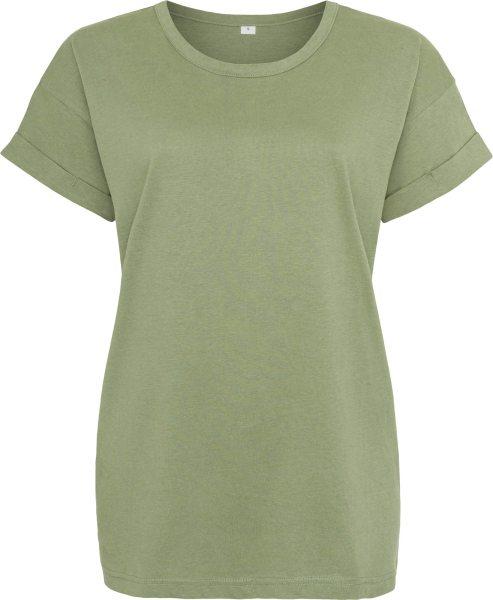 Organic Boyfriend T-Shirt - soft olive