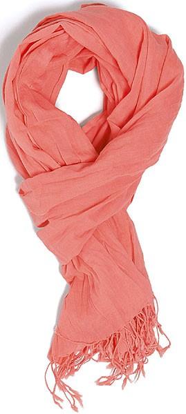 Wrap - Schal aus Bio-Baumwolle - flamingo pink - Bild 1