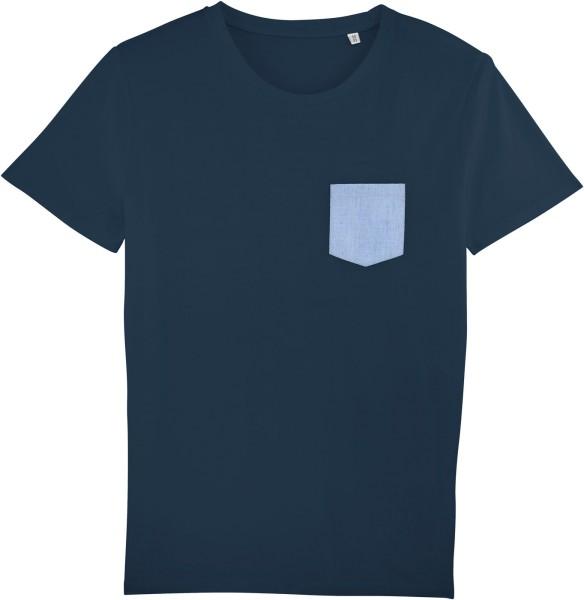 Kurzarmshirt aus Biobaumwolle - navy/blue