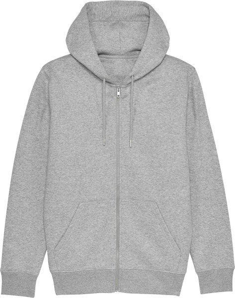 Kapuzenjacke aus Bio-Baumwolle - heather grey