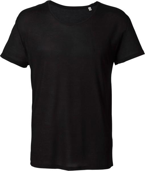 T-Shirt aus 100% Modalfasern - schwarz