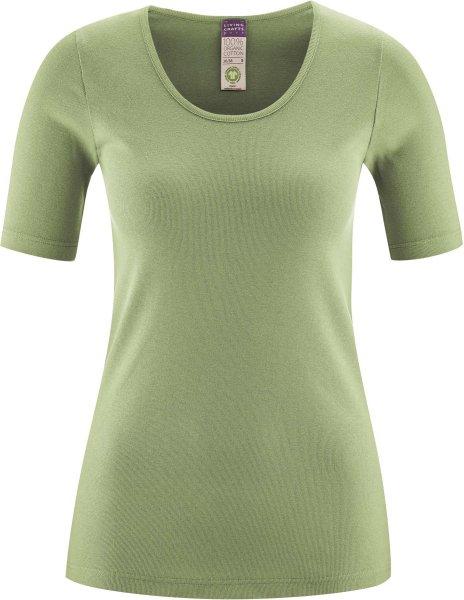 1/4 Arm Unterhemd aus Bio-Baumwolle - pistachio
