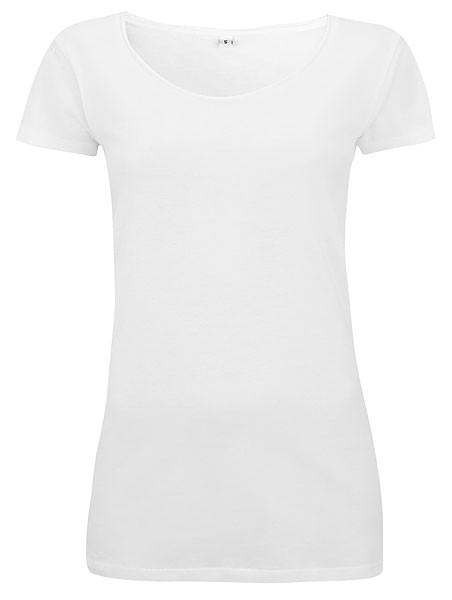 Raw Edge Jersey T-Shirt - white - Bild 1