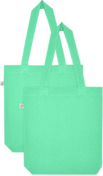 Doppelpack - Organic Cotton Bag - mint green
