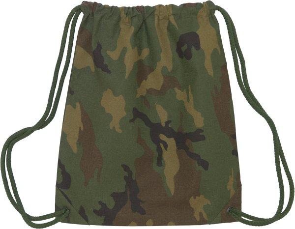 AOP Beutel/Gym Bag aus recycelter Baumwolle - camouflage