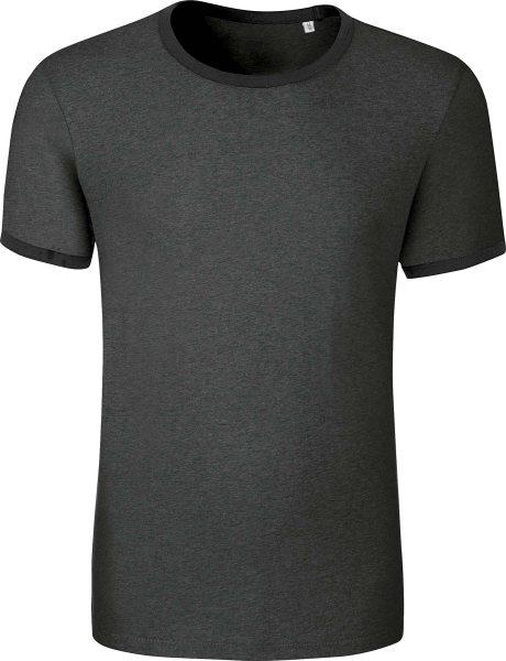 Retro T-Shirt aus Biobaumwolle - dark heather