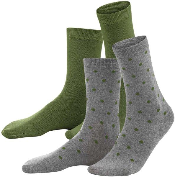 Damen Socken aus Bio-Baumwolle - Doppelpack - cypress dots