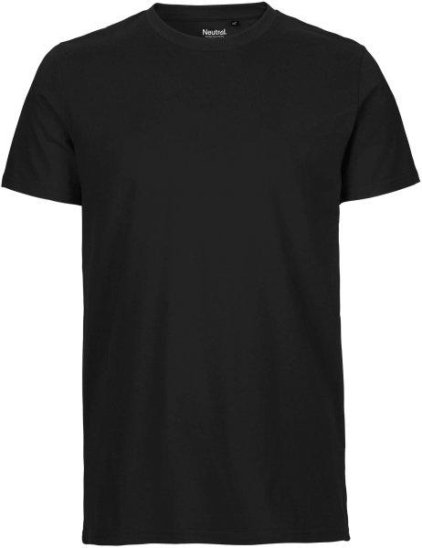 Fitted T-Shirt aus Fairtrade Bio-Baumwolle - schwarz