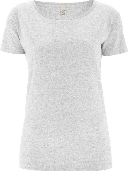 Special Yarn Effect T-Shirt - Biobaumwolle - white marl - Bild 1