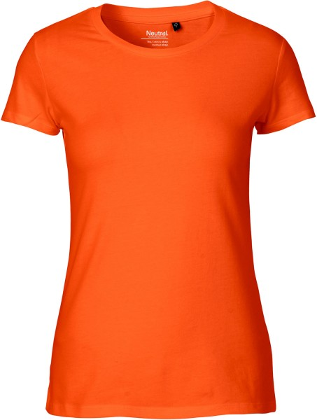 Fitted T-Shirt aus Fairtrade Bio-Baumwolle - orange