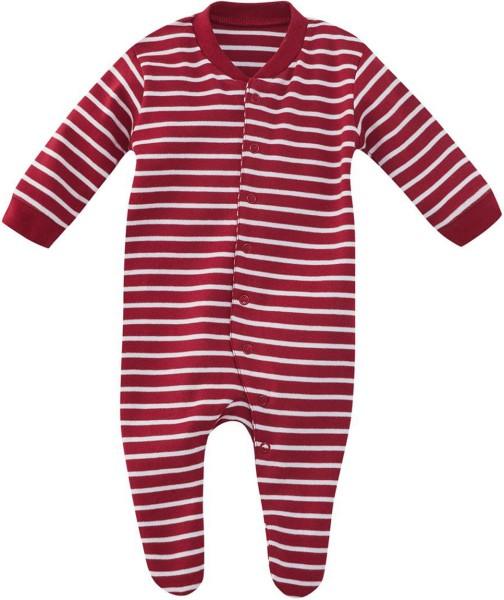 Baby Schlafanzug einteilig gestreift Biobaumwolle 83120