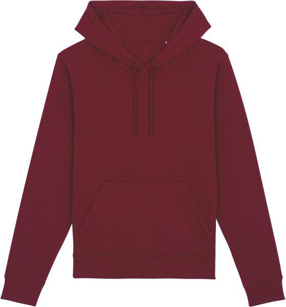 Unisex Hoodie aus Bio-Baumwolle - burgundy