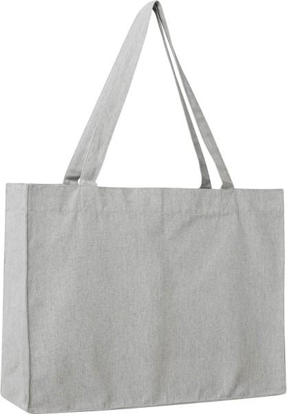 Shopping Bag aus recycelter Baumwolle - grau-meliert