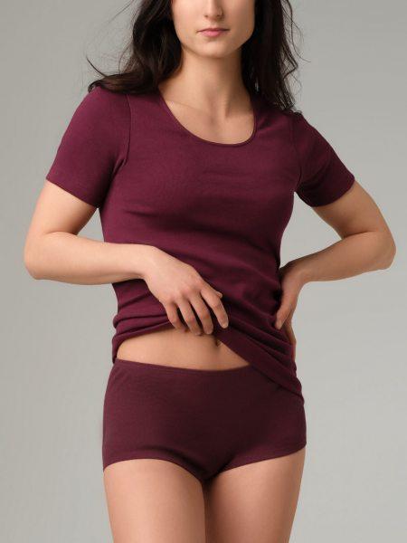 T-Shirt Feinripp fair burgunder 1-15-2791