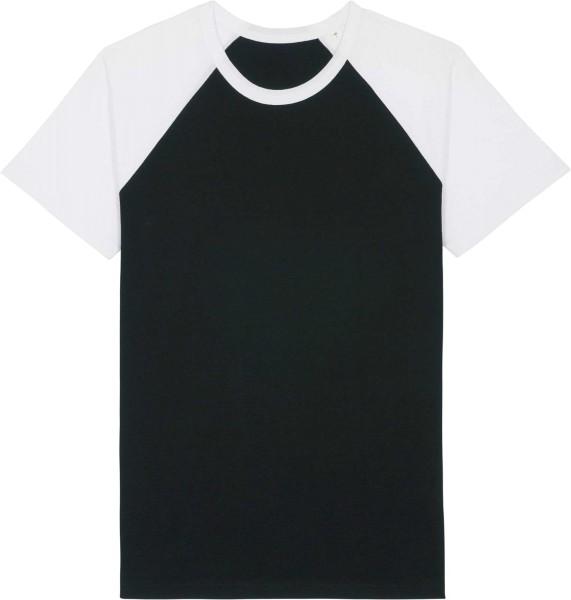 Unisex Baseball-Shirt aus Bio-Baumwolle - black/white