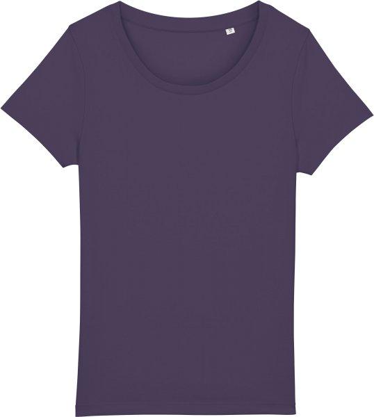 Basic T-Shirt aus Bio-Baumwolle - plum
