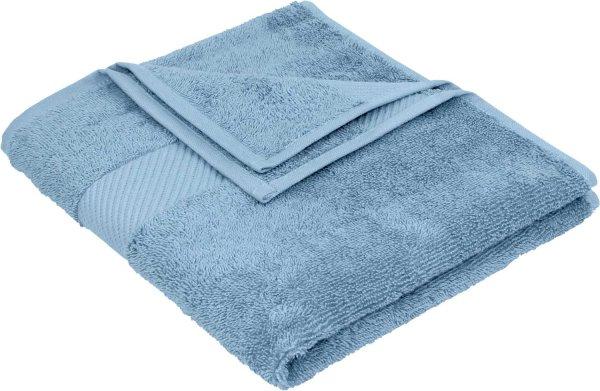 Handtuch aus Bio-Baumwolle - 50x100 denimblau - Bild 1