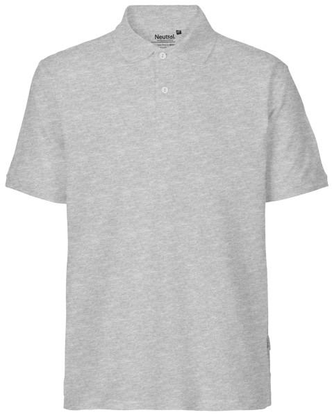 Polo Shirt Herren Biobaumwolle grau - Neutral 20080