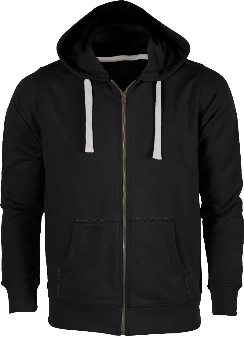 schwarze herren sweatjacke mit kapuze zip hoodie schwarz. Black Bedroom Furniture Sets. Home Design Ideas