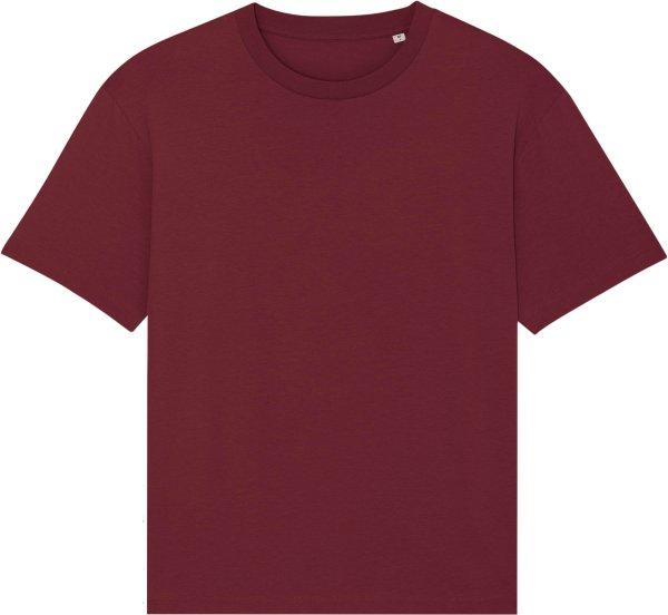 Oversized T-Shirt aus Bio-Baumwolle - burgundy