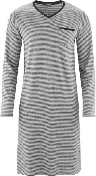 Nachthemd Bio-Baumwolle – stone grey/anthra melange