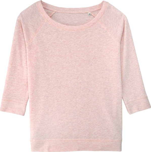 Sweater aus Biobaumwolle - cream heather pink