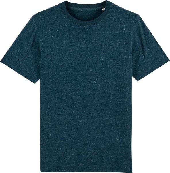 T-Shirt aus schwerem Stoff aus Bio-Baumwolle - dark heather denim