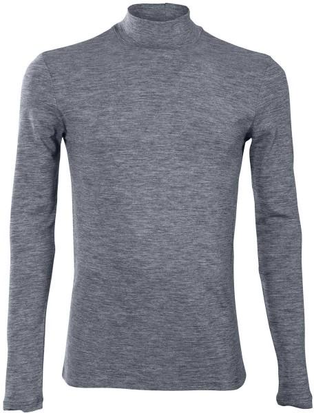 Shirt mit Stehkragen - Bio-Wolle/Bio-Baumwolle - sapphire blue - Bild 1