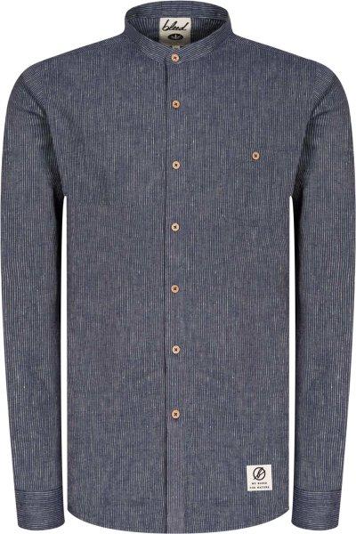 Hemd aus Hanf und Bio-Baumwolle - blue