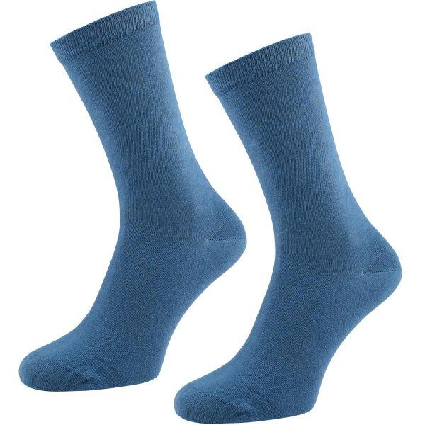 Socken aus Bio-Baumwolle - 2er Pack - denimblau