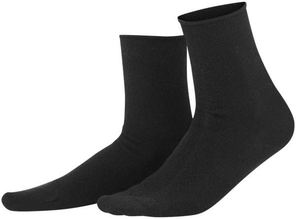 Damen Socken aus Bio-Wolle und Bio-Baumwolle - black
