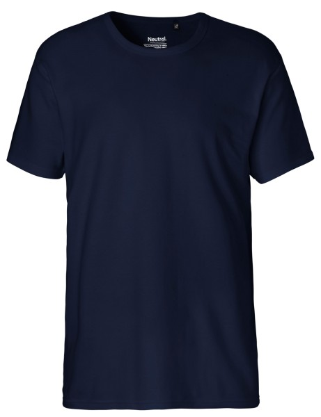 Interlock T-Shirt Herren Fairtrade Bio-Baumwolle navy