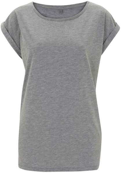 Rolled Sleeve Tunic T-Shirt melange grey
