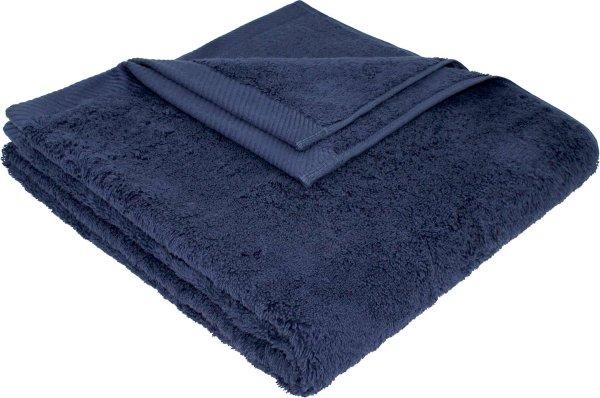 Flauschiges Badetuch aus Bio-Baumwolle - 70x140 dunkelblau