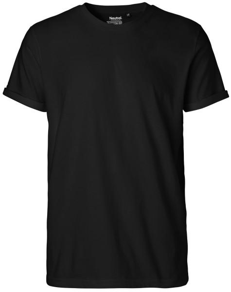 Herren T-Shirt schwarz Biobaumwolle neutral NE60012