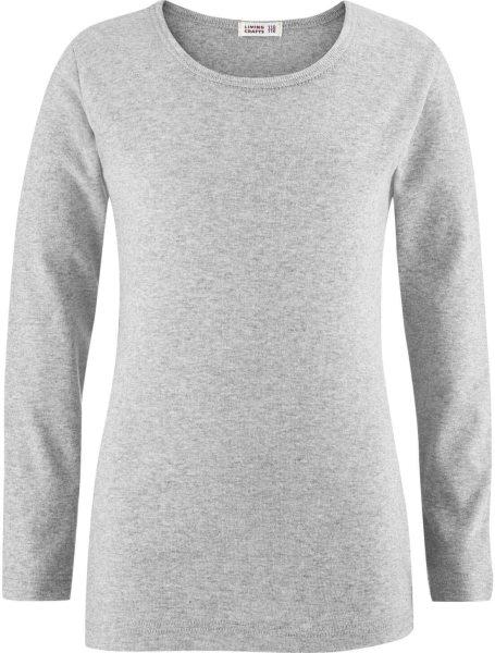Kinder Langarmshirt aus Bio-Baumwolle - grey melange
