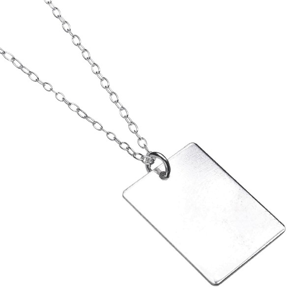 Rectangle Necklace - Kette aus recyceltem Silber