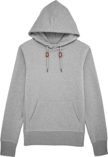 Tell - Extra schwerer Hoodie aus Bio-Baumwolle - heather grey