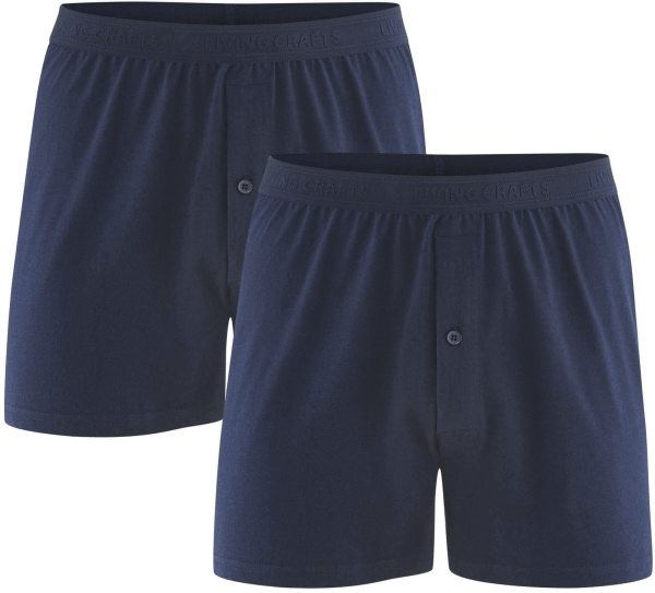 Boxer-Shorts aus Bio-Baumwolle - Doppelpack - navy