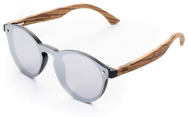 Eco-Sonnenbrille aus recyceltem Kunststoff & Bambus - grey lens