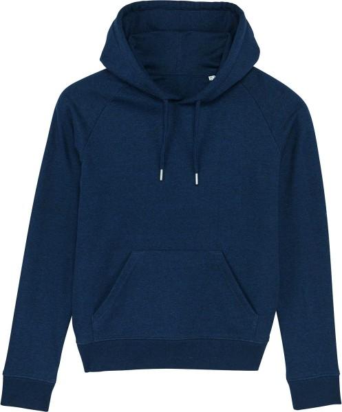 Raglan-Hoodie aus Bio-Baumwolle - black heather blue
