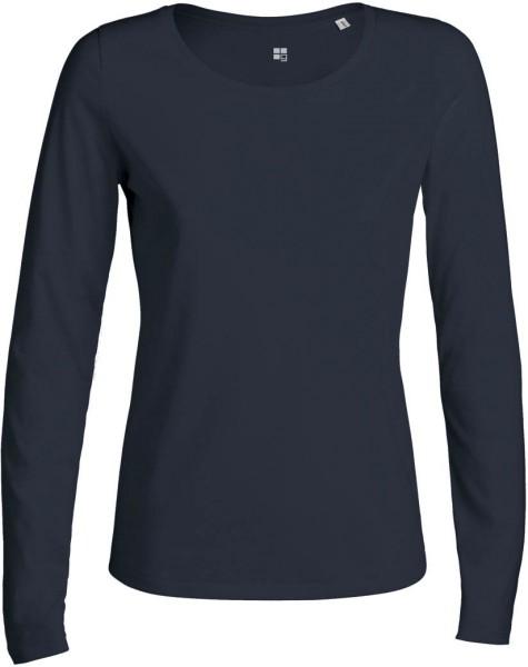 Jokes - Langarm T-Shirt mit U-Ausschnitt - navy