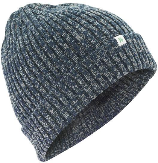 Dicke Wintermütze aus Hanf und Bio-Baumwolle - wintersky-grey