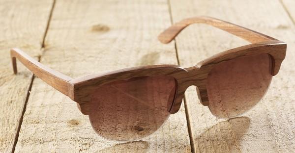 Trieste - Sonnenbrille aus Holz - red rose - Bild 1