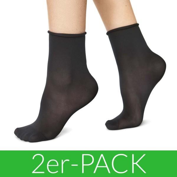 Judith Premium Socks - Socken aus Nilit - 2er-Pack - black