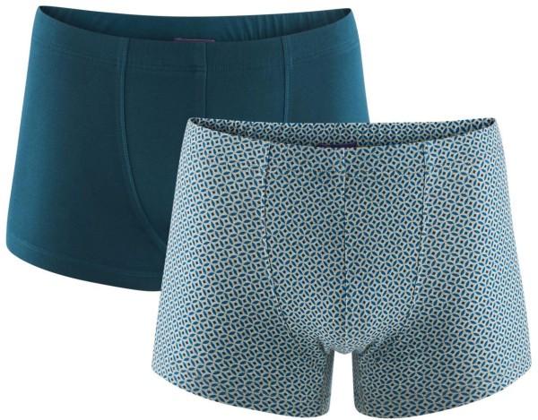 Pants aus Bio-Baumwolle - Doppelpack - grey melange/petrol