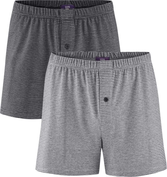 Boxer Shorts - Biobaumwolle - grey/anthrazit - 2er-Pack
