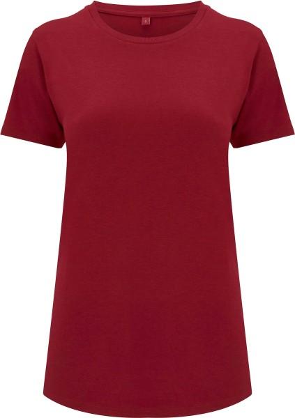 Ecovero T-Shirt aus Viskose und Bio-Baumwolle - brick red
